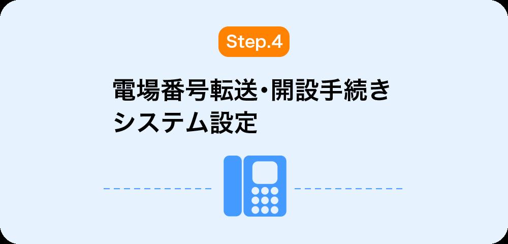 4.電話番号転送・開設手続き・システム設定
